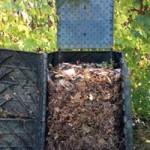 Premium kompostér po otvorení